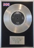 "T REX (Marc Bolan) -  7"" Platinum Disc   -  HOT LOVE"